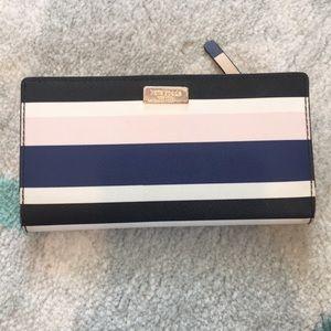 Kate Spade Striped bi fold wallet